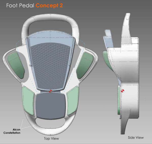 Eye Surgeon's Foot Control Concept